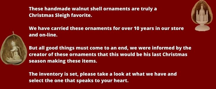 Walnut Ornaments