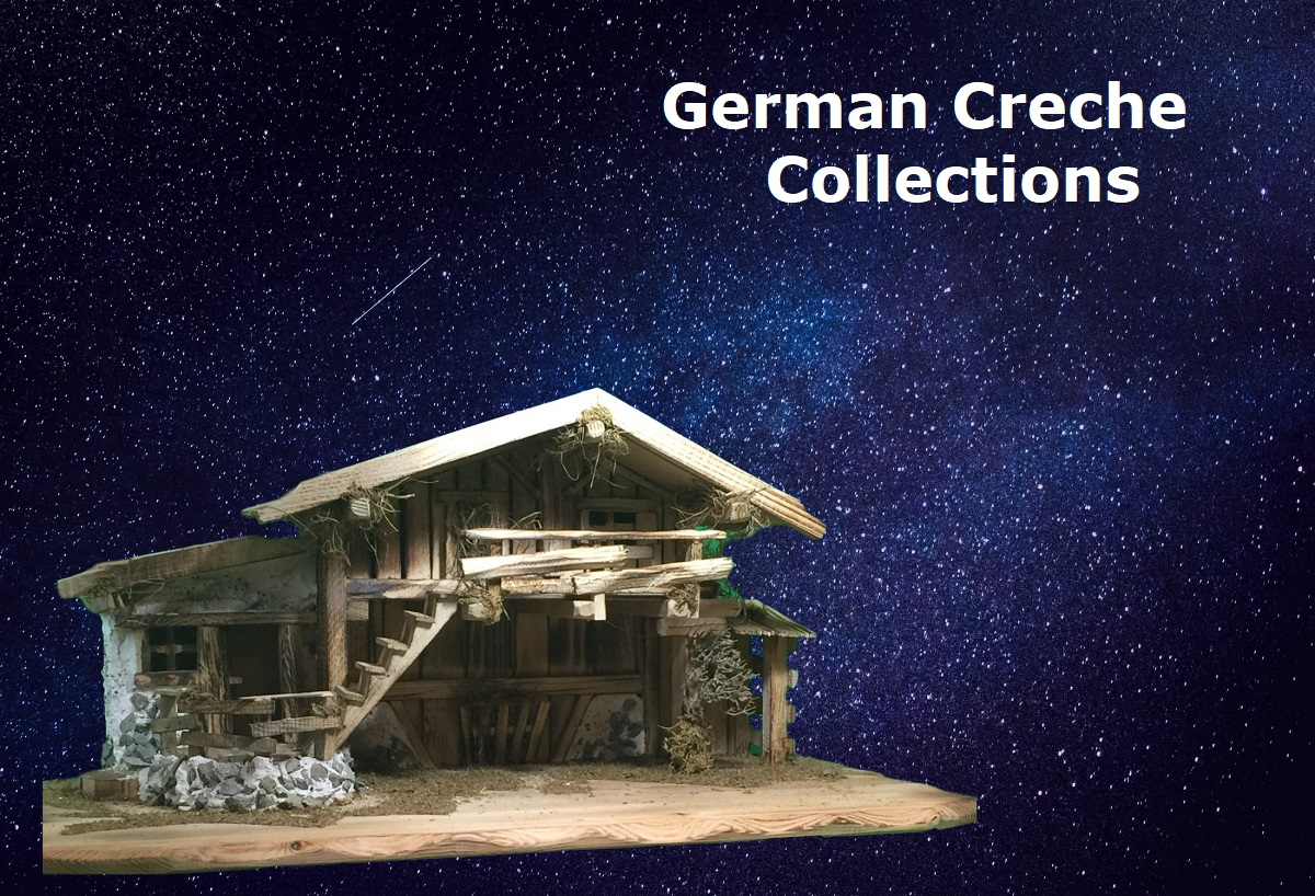 German handmade creche and Nativity scences